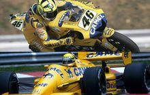 Gak Banyak Yang Tahu, Ternyata Valentino Rossi Punya Kesamaan dengan Legenda F1 Ayrton Senna, Sama-sama Kuning