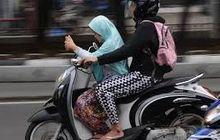 Buseh Disangka Airbag Kali, Bikers Plototin Nih Jangan Begini Kalau Bonceng Anak Naik Motor, Selain Bahaya Juga Bisa Dipenjara Nih