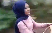 Bikin Gagal Fokus, Video Wanita Berhijab Naik Motor Modif Beda dari yang Lain, Warganet: Gimana Ngegasnya?