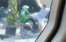 Terungkap! Ini Alasan Pria yang Tendang Driver Ojol Sampai Terjungkal dari Motor, Ternyata Sepele Banget