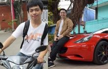 Makjleb, Pernah Ditolak dan Dihina Oleh Wanita Karena Bawa Motor Yamaha Jupiter MX, Kini Rico Huang Naik Ferrari