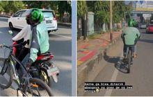 Viral Driver Ojol Diorder Cewek Cantik Naik Sepeda, Kecapekan Gowes Akhirnya Tukeran Motor Sama Sepeda