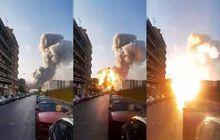 Duarrr! Video Ledakan Lebanon Mirip Bom Atom, Kendaraan Habis Tersapu