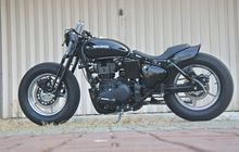 Modifikasi Royal Enfield Classic 500 Custom Bergaya Old School Bobber