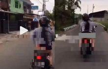 Terungkap! Polisi Beberkan Identitas Cewek Yang Viral Naik Motor Sambil Pamer Celana Dalam