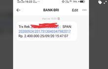 Jangan Kaget Dapat SMS dari Bank BRI Terima Bantuan BLT Rp 2,4 Juta, Langsung Lakukan Ini Biar Cair