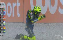 Kecewa Berat Terkapar di Lap ke-14 MotoGP Catalunya 2020 Ternyata Valentino Rossi Incar Rekor Ini