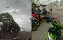 Bekasi Gempar, Video Angin Puting Beliung Acak-acak Banyak Bangunan, Motor Jatuh Hingga Terseret