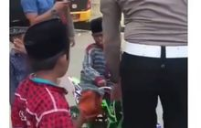 Viral Video Tiga Bocil Naik Motor Trail Mini, Ketakutan Disetop Polisi Matanya Langsung Berkaca-kaca