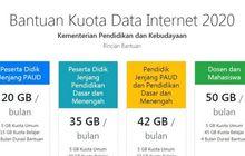 Ssttt Diam-diam Aja! Kuota Internet Gratis 20 GB, 35 GB, 42 GB dan 50 GB Dibagikan Kemendikbud, Buruan Cek HP Kamu
