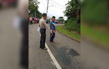 Brak! Adu Banteng Motor RX-King Vs Mobil Truk di Sukabumi, Dua Orang Meninggal Ditempat