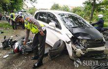 Lamongan Berduka, Honda Vario 125 Terkapar Sampai Ringsek Diseruduk Honda Freed, Bocah 9 Tahun Tewas