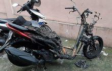 Maling Motor Panik Kabur Usai Yamaha Lexi Incarannya Mendadak Terbakar
