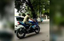 Geger, Video Pria Ngaku Anggota TNI Bawa Kabur Motor Suzuki GSX-R150