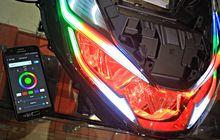 Lampu Honda PCX 160 Bisa Ganti Warna Pakai HP, Segini Harganya