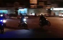 Mencekam, Video Ratusan Pembalap Liar Kocar-kacir Disergap Polisi
