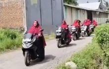 Video Emak-emak Raja Jalanan Konvoi Naik Matic Bongsor, Bikin Melongo