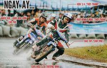 Begini Balap Motor Bebek Vietnam, Kaki Turun dan Pakai Helm Open Face
