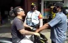 Viral Pemotor Tak Pakai Masker Lawan Petugas, Tak Takut Covid-19
