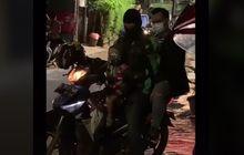 Bikin Hati Terenyuh, Video Driver Ojol Narik Penumpang Bawa Anaknya