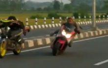 Video Yamaha NMAX Oleng Saat Adu Balap Liar, Netizen: Beban Orang Tua!
