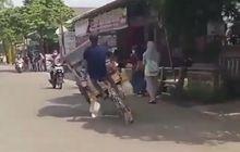 Video Tukang Becak Freestyle di Jalanan, Hampir Serempet Pemotor dan Pejalan Kaki