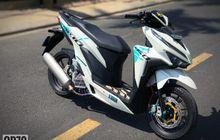 Modifikasi Honda Vario 150,  Pakai Cakram Ganda Plus Kelir Sporty