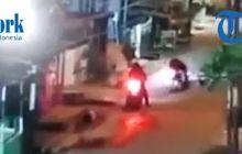 Medan Mencekam, Begal Sadis Tikam Driver Ojol, Yamaha NMAX Digasak