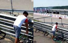 Viral Pembalap Indonesia Mario Aji Ambil Wudhu di Sirkuit MotoGP Jerman