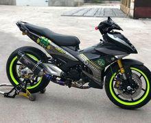 Comot Komponen Aerox dan Kaki-kaki Moge, Yamaha MX King Tambah Bengis Gayanya