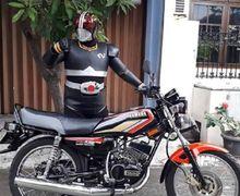 Motor Yamaha RX King Memang Legendaris, Ksatria Baja Hitam Ikut Mejeng Buat Ikon Jualan