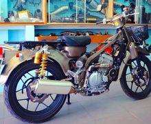 Motor Honda Super Cub Jahat, Mesin Pakai Kawasaki KLX250, Sokbreker Ohlins, Berani Lawan?