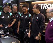 Inspeksi Mendadak Juara Dunia F1 Lewis Hamilton Bikin Geger MotoGP Qatar, Bawa Motornya Jago Juga