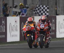 Video Duel Dovizioso Marquez di MotoGP Qatar, Ketat Jelang Tikungan Akhir