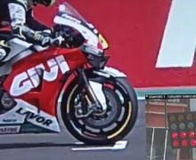 Video Rekaman Sebelum Cal Crutchlow Dihukum di MotoGP Argentina, Ban Depan Ngangkat Lewati Garis