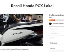 Bikin Geger! Petisi Recall Honda PCX Lokal Makin Kencang, Pemilik Motor Ungkap Kronologis Masalah