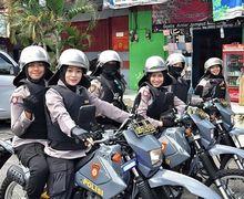 Viral Polwan Cantik Wonosobo Patroli Amankan Pemilu, Kasih Pesan Gemesin Buat Netizen