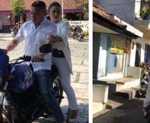 Krisdayanti dan Suami Datangi TPS berboncengan, Sayang Gak Pakai Helm