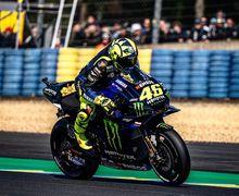 Enggak Sangka, Ini Alasan Valentino Rossi Pakai Ban Slick Saat Trek Basah di MotoGP Prancis 2019