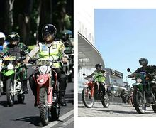 Keren, Patroli Gabungan Polisi dan Tentara Surabaya Riding Pakai Tril
