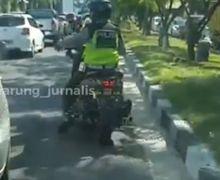 Viral, Video Polantas Pekanbaru Naik Yamaha NMAX Belah Kemacetan, Kawal Ibu Hamil Mau Melahirkan