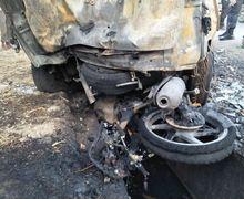 Jalur Subang Mencekam, Tabrakan Maut Mobil dan Dua Motor, Kendaraan dan 4 Orang Hangus Terbakar