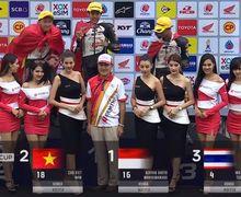 Indonesia Raya Berkumandang di Negeri Gajah Putih, Pembalap Indonesia Dheyo Wahyu Juara Race 1 Thailand Talent Cup 2019