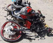 Jalur Ngawi-Solo Mendadak Gempar, Yamaha V-Ixion Hancur Dihantam Dump Truk, Warga Histeris