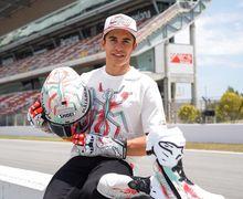 Ogah Kalah Dari Rossi,  Marquez Pamer Helm Spesial di MotoGP Catalunya