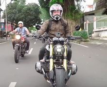 Bikin Cewek Histeris, Video Ariel Noah Libas Jalur Yogya-Salatiga Naik BMW R Nine T, Disergap Hujan Deras