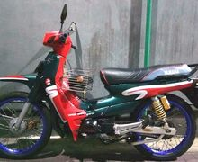 Barang Langka Yamaha Alfa Grafis Caltex Mau Dibarter Helm, Buruan