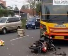 Warga Berhamburan, Honda Vario Hancur Hajar Mikrobus di Tasikmalaya, Murdini Tewas Seketika