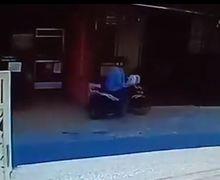 Kilat! Video Maling Curi Honda BeAT Cuma 6 Detik , Netizen Curiga Kunci Kontak Lupa Dicabut