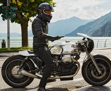 Sangar! Modifikasi Moto Guzzi Cafe Racer Kinclong Berpelek Monoblock